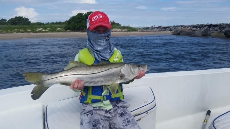 Click image for larger version.  Name:Gs 2nd big snook.jpg Views:150 Size:51.6 KB ID:158017