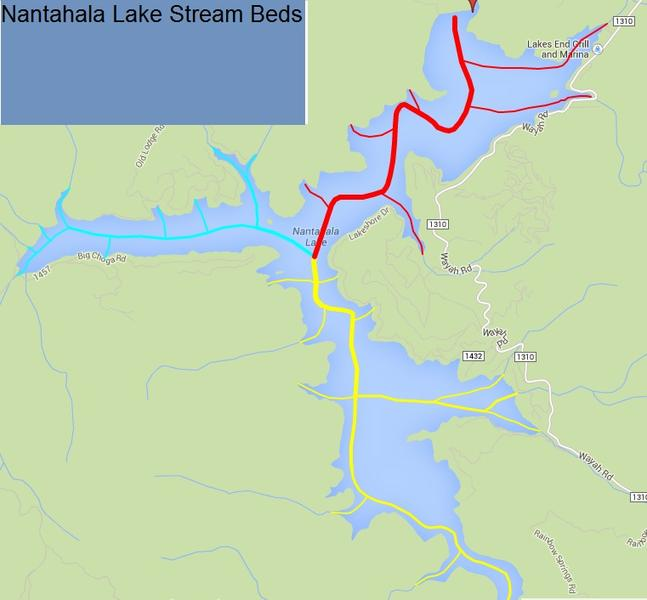 Click image for larger version.  Name:Nantahala Lake stream beds.jpg Views:49 Size:30.7 KB ID:64169